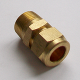 Brass Compression 10mm x 3/8 inch Male Iron - 24421001